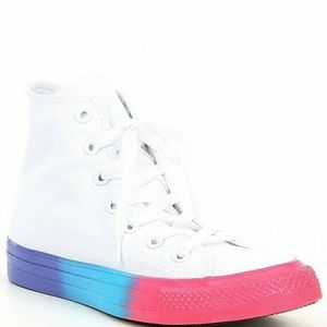 NEW All Star Rainbow Ice Ombre Hi Top Sneakers